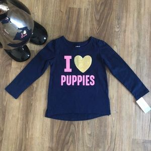 Carters I Love Puppies Top Size 3T NWT